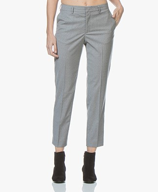 Filippa K Emma Cropped Cool Wool Pantalon - Lichtgrijs