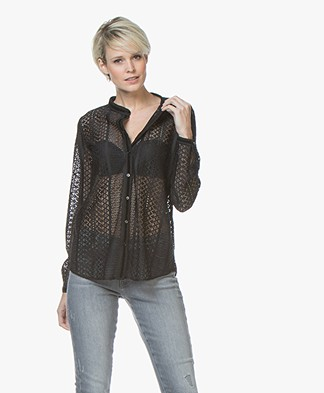 MKT Studio Chanissia Lace Blouse - Black