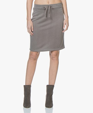 no man's land French Terry Skirt - Mercury
