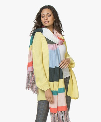 Repeat Striped Merino Scarf - Multi-color