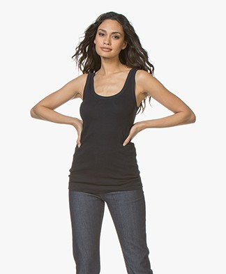By Malene Birger Ribbed Tank Top Newdawn - Night Blue