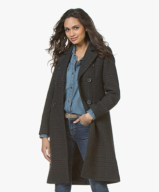 Indi & Cold Abrigo Mid-length Wool Coat - Marengo