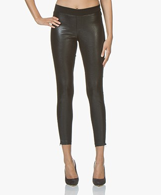 Denham Flex Faux Leather Slim-fit Pants - Black