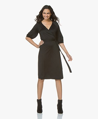 Filippa K Jersey Wrap Dress - Black
