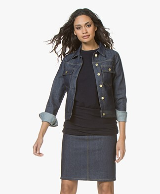Filippa K FK JEANS Suzy Raw Denim Jacket - Dark Blue