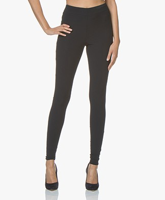 JapanTKY Haya Slim-fit Jersey Leggings - Blue Black