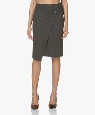 JapanTKY Maza Asymmetric Skirt - Anthracite