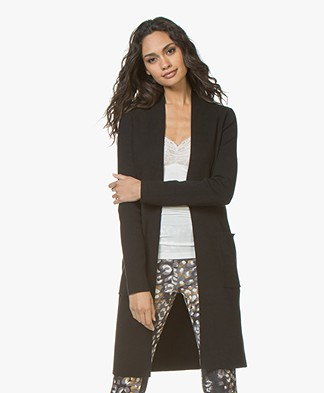 Kyra & Ko Annelot Mid-length Open Cardigan - Black
