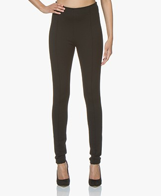 Kyra & Ko Victoria Interlock Jersey Pants - Black