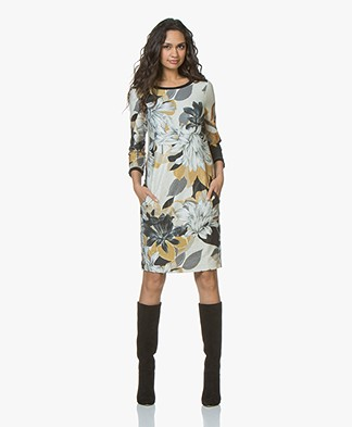 Kyra & Ko Wies Printed Dress with Lurex - Black