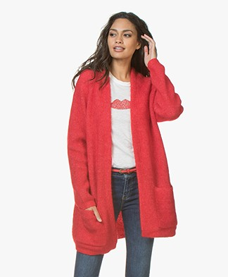 By Malene Birger Belinta Mohair Cardigan - Bright Red