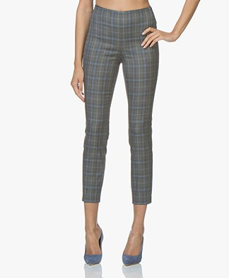 Rag & Bone Simone Checkered Slim-fit Pants - Grey