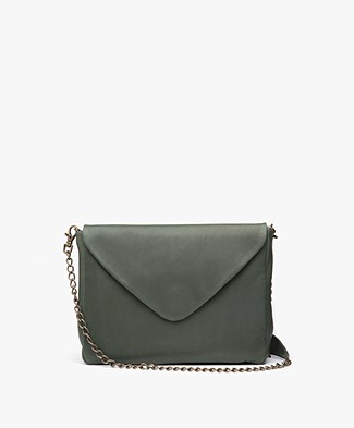 BY-BAR Run Leather Shoulder Bag - Dark Green