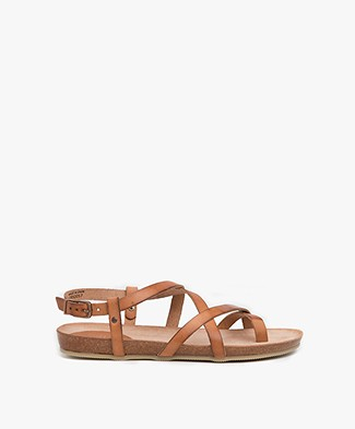 Fred de la Bretonière Leather Sandals - Light Brown