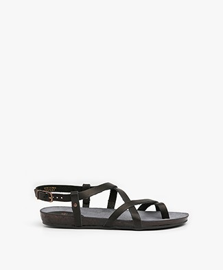 Fred de la Bretonière Leather Sandals - Black