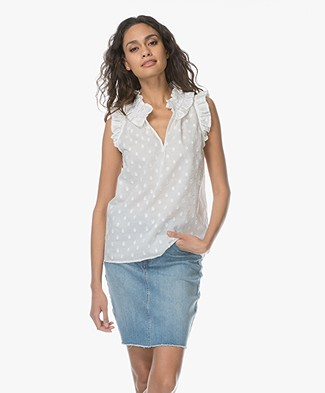 Josephine & Co Lucy Mouwloze Blouse - Wit
