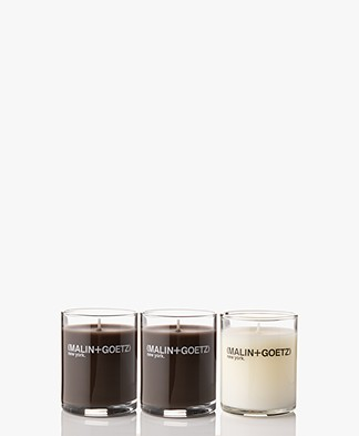 MALIN+GOETZ Votive Travel Size Candle Set - Dark Rum/Cannabis/Mojito