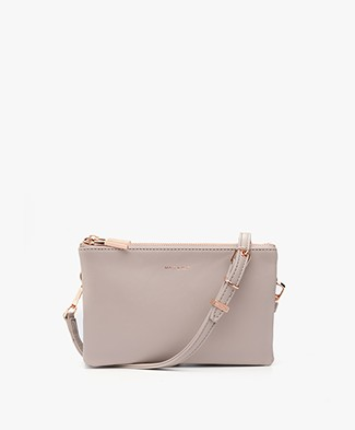 Matt & Nat Triplet Loom Cross-Body Tas - Fog