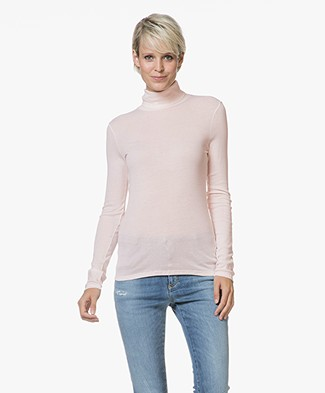 Petit Bateau Jersey Turtleneck in Light Cotton - Fleur