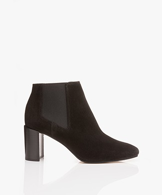 Rag & Bone Aslen Suede Ankle Boots - Black
