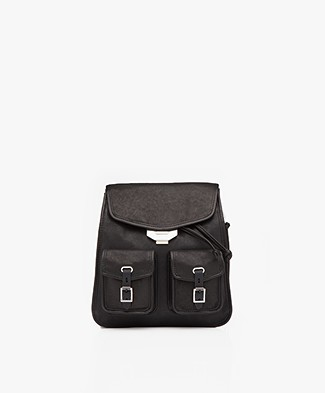 Rag & Bone Small Field Leather Backpack - Black