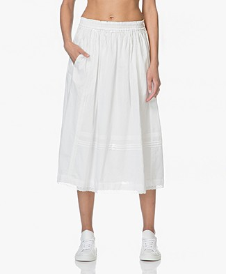 Zadig & Voltaire Jett Voile and Lace Midi Skirt - White