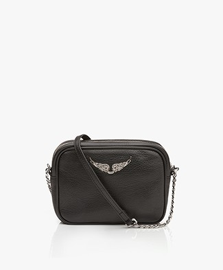 Zadig & Voltaire Leather XS Boxy Bag - Black