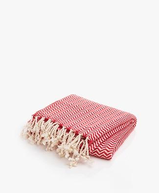 Bon Bini Hammam Towel Chikitu 180 cm x 90 cm - Red