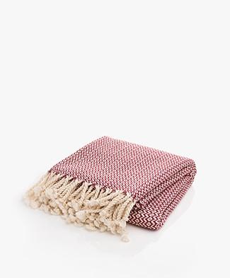 Bon Bini Hammam Towel Sabadeco 180cm x 90cm - Burgundy