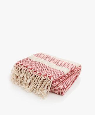 Bon Bini Hammam Towel Sorobon 180cm x 90cm - Red