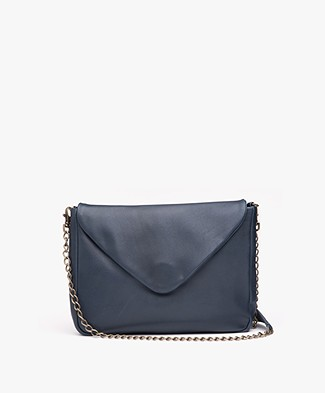BY-BAR Run Leather Shoulder Bag - Petrol Blue
