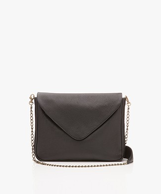 BY-BAR Run Leather Shoulder Bag - Black