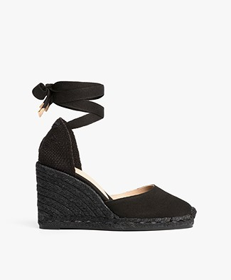 Castañer Carina Canvas Wedge Espadrilles - Black