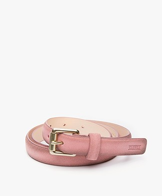 Closed Suede Gradient Belt - Rose