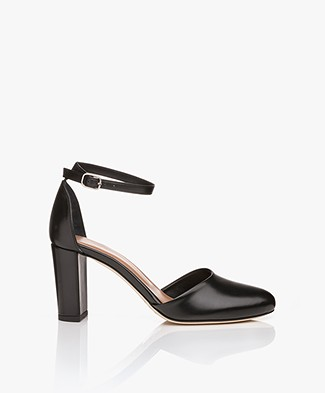 Filippa K Lauren Leather Sandals with Heels - Black