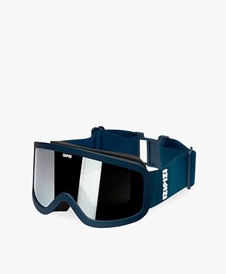 IZIPIZI Sun Snow Skibril - Navy Blauw