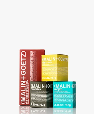 MALIN+GOETZ Votive Travel Size Kaarsenset - Dark Rum/Cannabis/Mojito