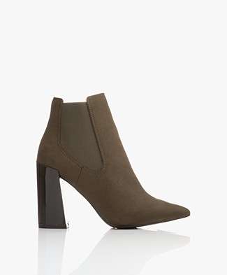 Matt & Nat Fran Heeled Chelsea Boot - Olive