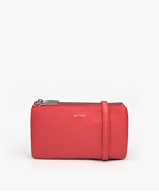 Matt & Nat Triplet Dwell Cross-Body Bag - Ruby