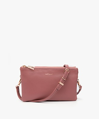 Matt & Nat Triplet Loom Cross-Body Bag - Mauve
