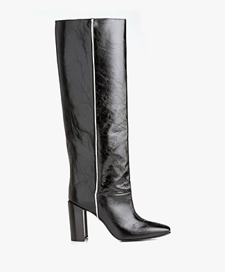 Rag & Bone Aslen Knee-high Leather Boots - Black