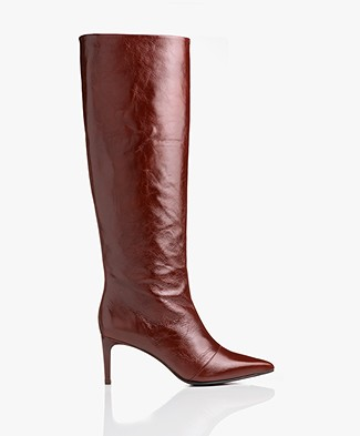 Rag & Bone Beha Knee-high Leather Boots - Mahogany