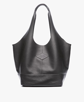 Rag & Bone Camden Nappa Leather Shopper - Black