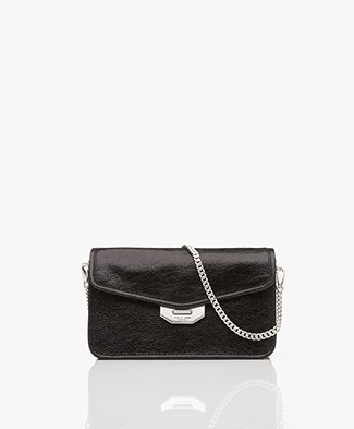 Rag & Bone Field Shoulder Bag/Clutch - Black Crackle