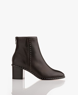 Rag & Bone Willow Micro Stud Ankle Boots - Black