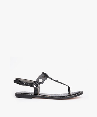 Sam Edelman Gilly Leather Sandals - Black