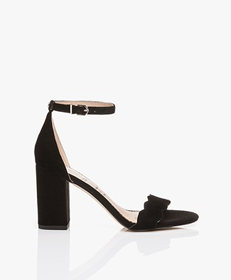 Sam Edelman Odila Heeled Sandals - Black Suede