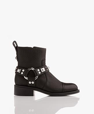 Zadig & Voltaire Empress Belt Biker Boots - Black