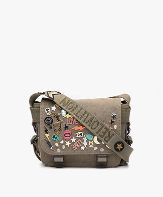 Zadig & Voltaire Readymade Canvas Shoulder Bag - Khaki