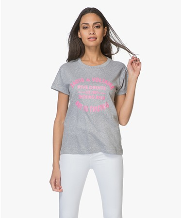 Zadig & Voltaire - Zadig & Voltaire Walk Flock Blason T-shirt - Grijs Mêlee